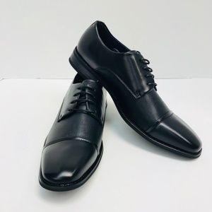 Men's Amali Black Dress Shoes Embossed Upper NEW